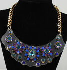 1 X Vintage Style Handmade Bib Necklace Acrylic Beads For Girls Lady