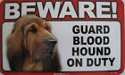 BEWARE GUARD DOG- Plastic Sign Poster / You pick your BREED! New