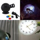Cold Light LED Analogue Projection Wall Clock Hotel Decor Home Bedroom Gift new
