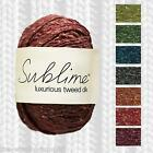 SUBLIME LUXURIOUS TWEED DK KNITTING YARN - K021 - 11 SHADE OPTIONS