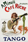 Cafe Riche Vintage French print poster, large 4 sizes available, France 81