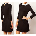 Chic Women New 3/4 Sleeved Mini Lace Peter Pan Collar Shift Casual Dress