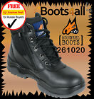 New Mongrel Work Boots Zip Up Lace Up Steel Toe Sneaker Ankle Support  261050