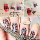 New 3D Black Lace Nail Art Tips Sticker Decal Full Wraps Acrylic DIY Decoration