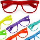 Wayfarer Fashion Designer Clear Lens Glasses Vintage Retro Red Neon KY8032-CN2