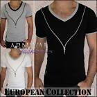 NEW MEN'S SHORT SLEEVE TOPS for MEN CASUAL WEAR MENS V NECK T SHIRT MAN MENSWEAR