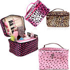 Big Fashion Cosmetic Bag Storage Make Up Organizer Handbag Leopard and Spotted
