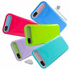 for Apple iPhone 5 5s Smooth Glaze Hybrid Case Cover+PryTool Bundle Accessory