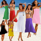 Sexy Women 3 in 1 Strapless Bikini Cover Up Bandeau Dress Swimwear Beach Skirt
