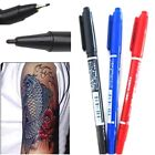 FD163 Dual-Tip Tattoo Skin Marker Piercing Marking Pen Scribe Tool Surgical @