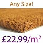 Plain Natural Coir Doormat Heavy Duty 23mm 1m / 2m Wide Any Size Mat