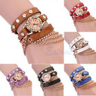 Fashion Girl Women Synthetic Rhinestone Leather Sling Chain Quartz Wrist Watch