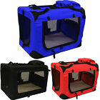 Fabric Soft Pet Crate Kennel Cage Carrier House Dog Puppy Cat Small Medium Large