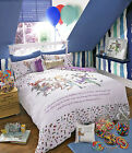 Roald Dahl Charlie And The Chocolate Factory Duvet Cover - White Purple Bed Set