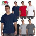 Fruit of the Loom Men's 5 oz 100% Heavy Cotton HD V Neck T-Shirt M39VR