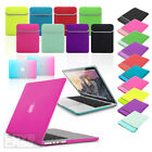 BUNDLE Smart NEOPRENE Sleeve with Rubberized HARD Case Cover for Apple MacBook