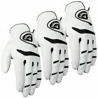 *Pack of 3* Callaway Fusion Pro LEATHER Mens Golf Glove 2014-Left Hand