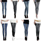 Womens New Sexy Stretch Jeans Tights Kneepad Skinny Slim Pants 14 Style