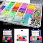 Rainbow Loom 400 - 8200 Bands Kit Set with Storage Case Box Organiser Board Hook
