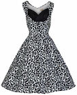 LINDY BOP 'OPHELIA' NEW CHIC VINTAGE 1950's MONOCHROME PARTY SWING/JIVE DRESS