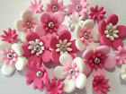 EDIBLE FLOWER TOPPERS CUPCAKE DECORATIONS MINI SPIKE DAISY BRIGHT X 500