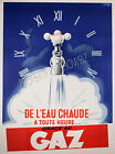 Vintage French Gaz ad print poster, large 4 sizes available