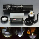 2000LM Zoomable CREE XM-L T6 LED 26650 AAA Flashlight Torch Zoom Lamp Ladegerät