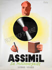 Assimil Vintage French ad print poster, large 4 sizes available