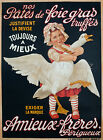 Amieux Freres Vintage French advertisement print poster, large 4 sizes available