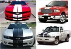 """CHEVY FORD DODGE TWIN RALLY STRIPES 11"""" WIDE RAM CAMARO MUSTANG 30 FEET"""