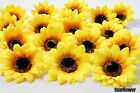50X Sunflowers Daisy 3 inch Artificial Silk Flower Heads Wholesale Lots - F36