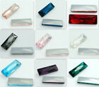5pcs Rectangular strip Crystal rhinestones Silver Bottom beads 24MM Multicolor