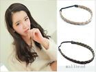 New Woman Girl Ribbon Tail Braid Bohemian Plaited Synthetic Headband Hairband