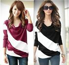 Chic Women's Long Sleeve Batwing Top Dolman Lace Loose T-Shirt Blouse kj1516