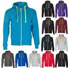 New Mens Plain Zip Up Fleece hoodie Hooded Sweatshirt Jacket Top Size S M L XL 8