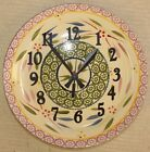 Temp-tations Ceramic Stoneware Clock Old World Floral Lace Upcycled Plate