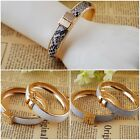 New Fashion Jewelry Women Glod P Leather Crystal Rhinestone Bracelet Bangle Cuff