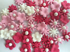 EDIBLE FLOWER TOPPERS CUPCAKE DECORATIONS 2.5 CM 3 POINT FLOWER BRIGHT X 40
