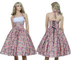 Vintage Dancing Party Dresses Rockabilly Swing Jive Prom Skirts Retro 50s Floral