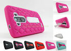 for LG G3 2014 Gem Studs KickStand Heavy Duty Hybrid Phone Case Cover+Prytool