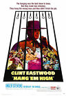 """""""HANG EM HIGH"""" Clint Eastwood.Classic Western Movie Poster A1A2A3A4Size"""