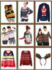 Christmas Jumpers Unisex Ladies Mens  Retro Novelty Xmas Winter Knitted