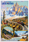 Vintage French Travel Advertisement print poster-4 large sizes available