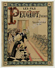 Vintage Peugeot Bicycles Advertisement print poster, 4 large sizes available