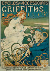 Vintage Griffiths Bicycles Advertisement print poster, 4 large sizes available