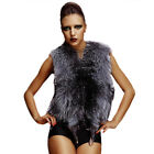 QD11630 New Genuine Silver Fox Fur Vest/Waistcoat In Stock Free Shipping Hot