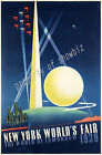 Vintage 1939 New York World Fair ad print poster, large 4 sizes available