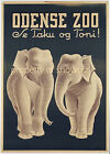 Vintage Odense Zoo Art ad print poster, large 4 sizes available