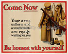 Vintage Military art ad print poster, large 4 sizes available