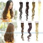 "22"" Long New Women Clip On Clip In Wavy Curly Synthetic One Piece Hair Extension"